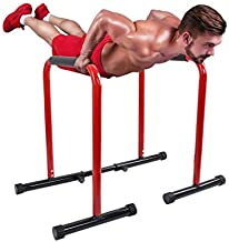 Adjustable Power Tower Dip Station, Multi-Function Heavy Duty Dip Station Chin Up Bar Core Power Tower Home Strength Training Fitness Equipment for Home G-ym Workout Fitness
