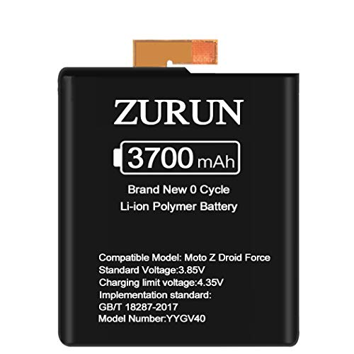 ZURUN 3700mAh Li-Polymer Battery SNN5968A Replacement for Motorola Moto Z Droid Force (GV40)