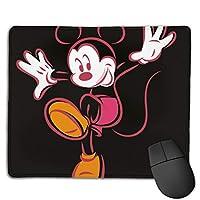 マウスパッド ミニーマウス 防水 洗える 耐久性 滑り止め オフィス 高級感 おしゃれ かわいい 18x 22x 0.3cm