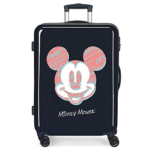 Disney Always Be Kind Medium Suitcase Blue 48 x 68 x 26 cm Rigid ABS Side Combination Closure 70L 2.7 kg 4 Double Wheels