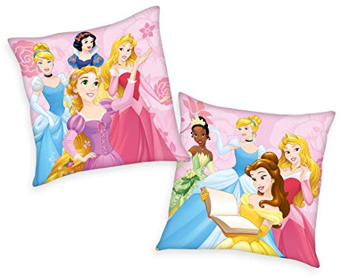 Disney 's Princess - Cojín con relleno (40 x 40 cm), diseño de princesas Disney