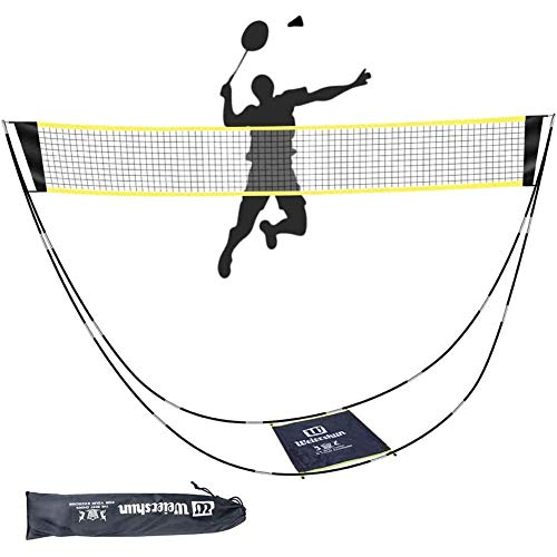 LEFOR·Z Badminton Net,Portable Badminton Net Set with Stand Carry Bag,Foldable Tennis Volleyball Net for Indoor Outdoor Sports, No Tools or Stakes Required
