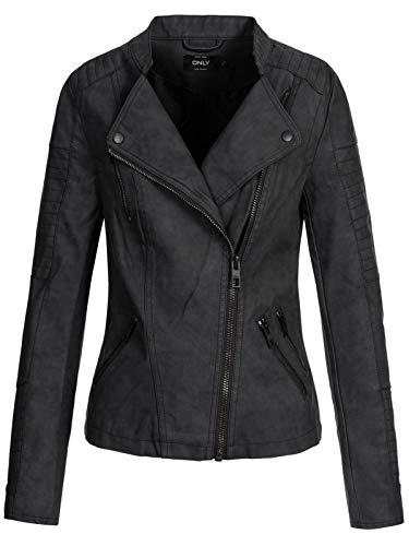 ONLY Female Jacke Leder-Look 42Black