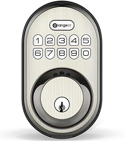Keyless Entry Deadbolt Lock Orangeiot Electronic Keypad Door Lock Auto Lock 1 Touch Locking product image