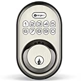 Keyless Entry Deadbolt Lock, Orangeiot Electronic Keypad Door Lock, Auto Lock, 1 Touch Locking, 20 Customizable User Codes, Back Lit, Easy Installation for Front Back Door, Satin Nickel