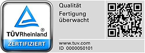 Bodenschutzmatte PET Performa für Hartboden mit TÜV und Blauer Engel - 4 Größen wählbar - 92 x 122 cm