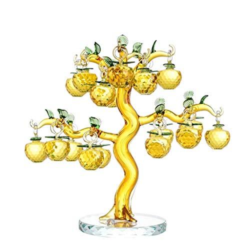 CML Home Delicado y Hermoso Árbol Precio Es Conveniente for la Mesa Decoración, 18 Crystal manzanos, Rich Árbol, Pórtico casero, Feng Shui Adornos, Regalos Decoración hogareña