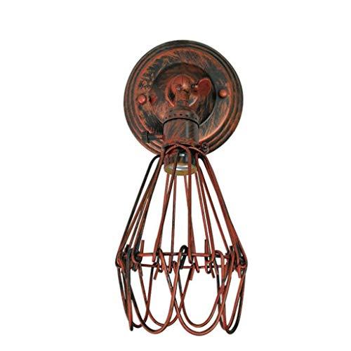 Lámpara de Pared Lámpara de pared Vintage Loft Iluminación Industrial ajustable zócalo rústico apliques de alambre de metal de la jaula interior se enciende Retro Fixture (Color : Rust)