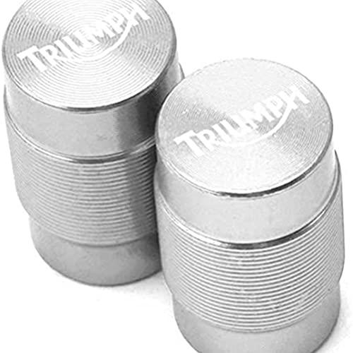 2 Piezas Tapas para VáLvulas de AleacióN Aluminio de Moto compatible con Daytona 675 Street Triple/R Tiger Explorer 1200 800 XC SPEED TRIPLE 1050, Anti CorrosióN Cubierta de La VáLvula NeumáTico