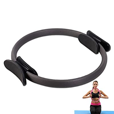"""FFSM Pilates Rings Fitness Exercise Magic yoga Ring 15"""" Body Workouts,Dual Grip Handles for Flexibility Power, multiple colour"""