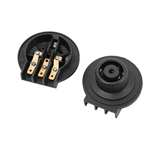 X-DREE N/O Chaleira Elétrica Termostato Controlador de Temperatura Base TM-XG-2 2pcs(Base de contrôleur de température de prise de thermostat de bouilloire électrique N/O TM-XG-2 2pcs)