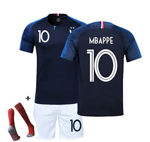 DUBAOBAO FFF Copa del Mundo de fútbol Ropa Deportiva Campeón Jersey Jersey 2018 Copa del Mundo Dos Estrellas Shorts, Adecuado para niños/Adultos/jóvenes