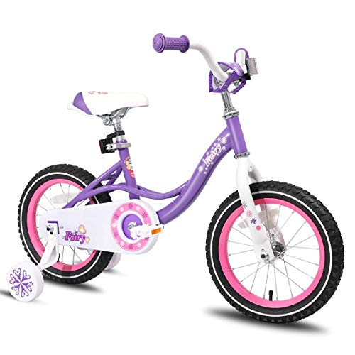 JOYSTAR 12 Inch Kids Bike with Training Wheels for 2 3 4 Years Old Girls, Toddler Cycle for Early Rider, Child Pedal Bike, Children Purple