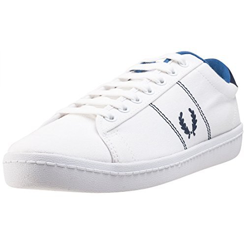 Fred Perry Mens B2 Tennis White Canvas Trainers 11 US