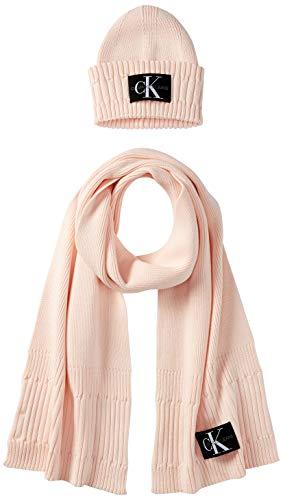 Calvin Klein Damen BEANIE + SCARF Winter-Zubehr-Set, Rosa (Crystal Pink),...