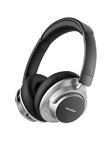 Soundcore Space NC Bluetooth Kopfhörer von Anker, mit Geräuschunterdrückung, Touch Control, 20 Stunden Akkulaufzeit, für Reisen, Büro, Zuhause und viel mehr (Generalüberholt)