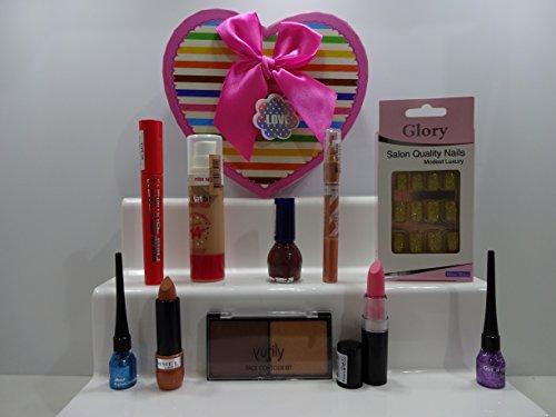 Ensemble de cadeau de Saint-Valentin pour son ~ Luxe 10pc Maquillage Beauté Boîte cadeau de boîte cadeau Mix marques. 062.