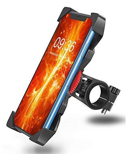Bovon Soporte Movil Bicicleta, Anti Vibración Soporte Movil Bici Montaña con 360° Rotación para Moto Cochecito, Universal Manillar para iPhone 11 Pro Max/11 Pro/11/X/8, Samsung y 3.5