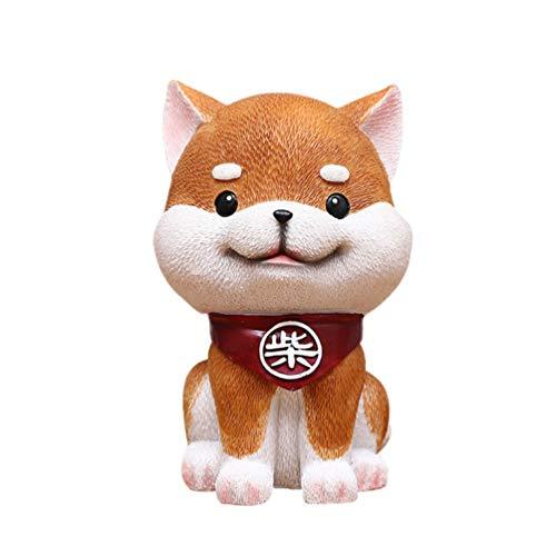 NUOBESTY Sparschwein Handwerk Shiba Inu Hund geformt langlebig Harz kreative Box Spardose Spartopf Forchildren Kinder Heimtextilien