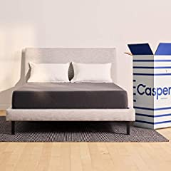 "Our 11"" bed in a box mattress offers Casper comfort in a streamlined design. 3 layers of premium foam for support, breathability, and bounce Easy-to-clean upholstery-grade zip off cover for added durability Please note: any new product will expand wi..."