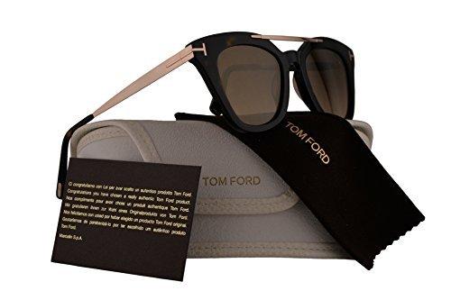 Tom Ford FT0575 Anna-02 Gafas de sol w/Brown lente 52G TF575 mujer Marron oscuro Grande