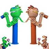 Creative Design Eat Lollipop Robot Lollipop Holder Funny Lollipop Station Gift Fashion Decompression Toy pop ups Lollipop (Dinosaur 2PCS)