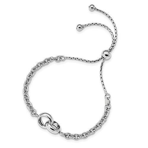 925 Sterling Silver Link Adjustable 4 9 Inch Bracelet Stretch Wrap Fine Jewelry For Women Gift Set