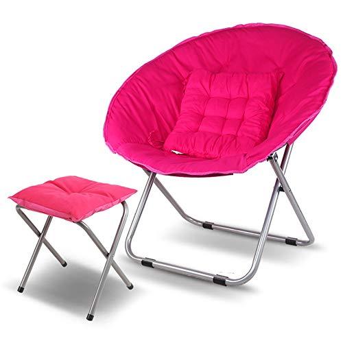 Axdwfd Zero Zwaartekrachtstoel, opklapbare ligstoel, opvouwbare luie stoel met voetsteun en kussen, loungebank, geschikt voor woonkamer en balkon - 7 kleuren beschikbaar