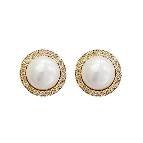 Pendientes Lujo Pendientes Perlas Exageradas Moda Llena Diamantes Para Pendientes Feminininity Girls Banquete Lujo Regalo Fiesta