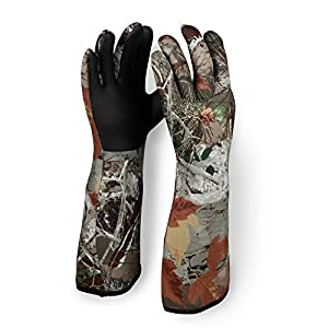 L-Bow Kids Camo Cold Weather Waterproof Elbow Length Glove