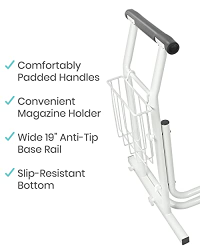 Vive Stand Alone Toilet Rail - Medical Bathroom Safety Assist Frame with Support Grab Bar Handles & Railings for Elderly, Senior, Handicap & Disabled - Freestanding Commode Stability Handrails