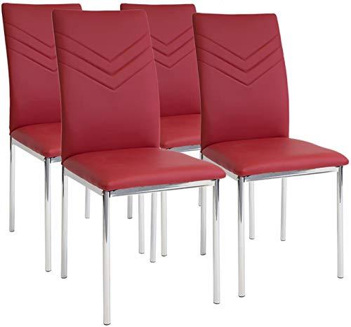 Albatros 2938 Verona 4 x Esszimmerstühle rot