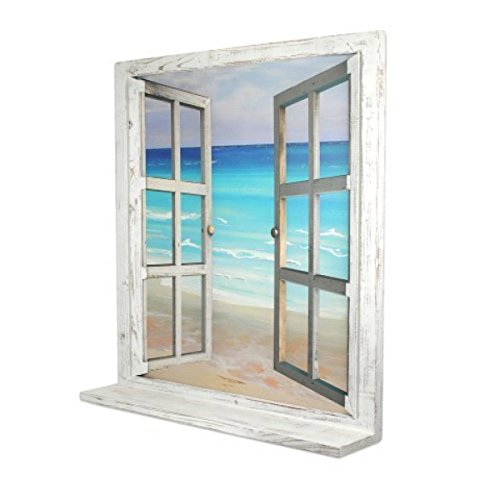 Art Deco Home - Cuadro Lienzo Ventana Mar 84x78 cm - 10530SG