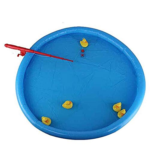 Tasquite Partido del Juego del Juguete Duck Fishing Game Pond Pool con 5 patitos Set Kid Educational Toy Preescolar