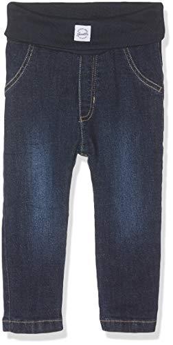 Sanetta Unisex Baby Gefütterte Jeanshose Jeans, Blau (Dark Blue 9394), 80 (Herstellergröße: 080)