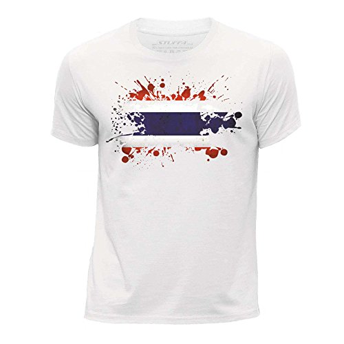 Stuff4 jongens ronde hals T-shirt Thailand vlag Splat Edad de 12-14 (152-164cm) Regulable