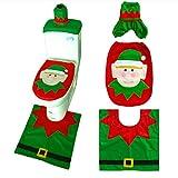 Set De Baño Navideño ,Navidad Muñeco De Nieve Cubierta De Asiento De Inodoro Decoración De Baño De Navidad Decoración del Hogar Adornos Navideños - Due Gruppi