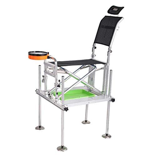 Caiyi Fishing Chairs Fishing Platform Vouwstoel Outdoor Sportstoel Camping stoel stoel stoel stoel kan dragen 150 Kg Gift 75 * 65 * 98.5-108cm Zwart