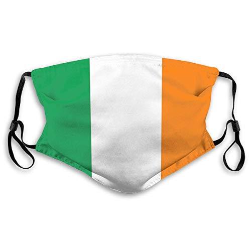 Bandera de Irlanda versión auténtica almohada nueva a prueba de sol máscara facial bandana bandana headwear para hombres y mujeres/M