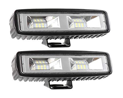 WGE Lumière de Travail à LED 6 Pouces Tout-Terrain 36w a Conduit la Barre de lumière de Travail entraînant Un antibrouillard étanche,2 * 36W