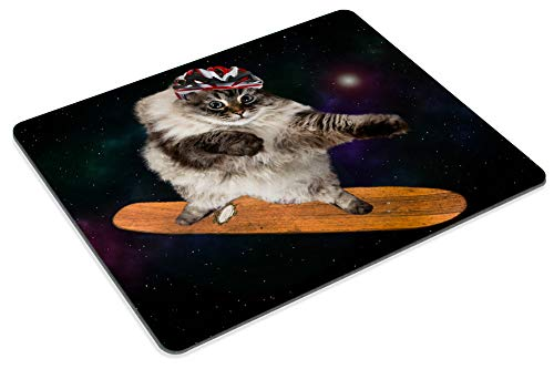 Smooffly Gaming Mouse Pad Custom,Funny cat Skating in Cosmos Mousepad Non-Slip Rubber Rectangle Mouse Pads for Computers Laptop Photo #4