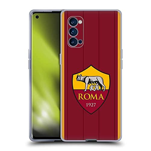 Head Case Designs Licenciado Oficialmente AS Roma Home 2021/22 Crest Kit Carcasa de Gel de Silicona Compatible con OPPO Reno 4 Pro 5G