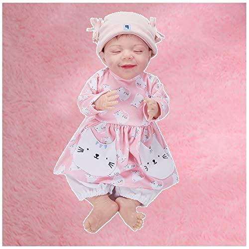 HZIXIXI MuñEco Reborn Real, 18 Pulgadas MuñEca Reborn Silicona - Reborn Baby Doll Recien Nacido - Juguetes Regalos para NiñOs