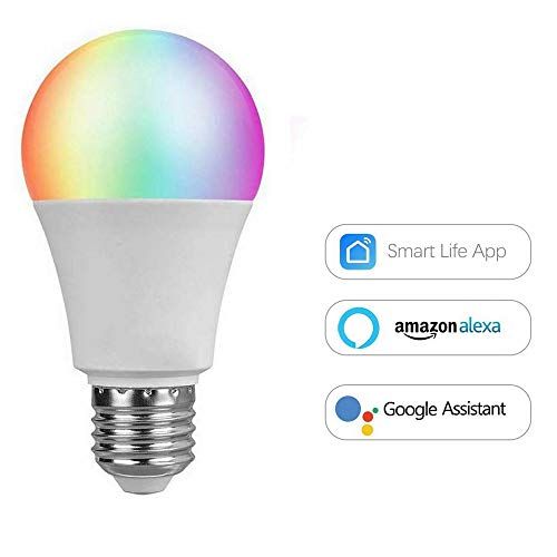 eLinkSmart Light Bulb WiFi Lights Bulb, 7W E27, compatibel met Alexa en Google Home, 16 miljoen kleuren, afstandsbediening, iOS app, Android, led-verlichting voor smart apparaten