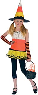 Girls' Candy Corn Witch Costume