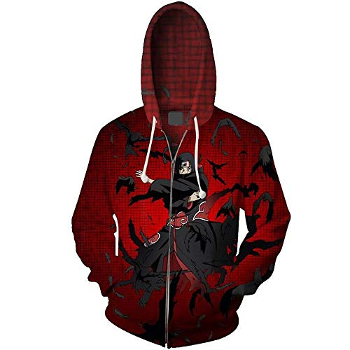 JHLong Anime Sweater 3D Digital Printing Anime Rode Rits Vest Hoodie Cosplay Casual Shirt