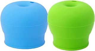 VNDEFUL Children Drink The Lid To Prevent Leakage and Choking Silica Gel Bottle Cap Children Learn To Drink Straw Lid Baby...