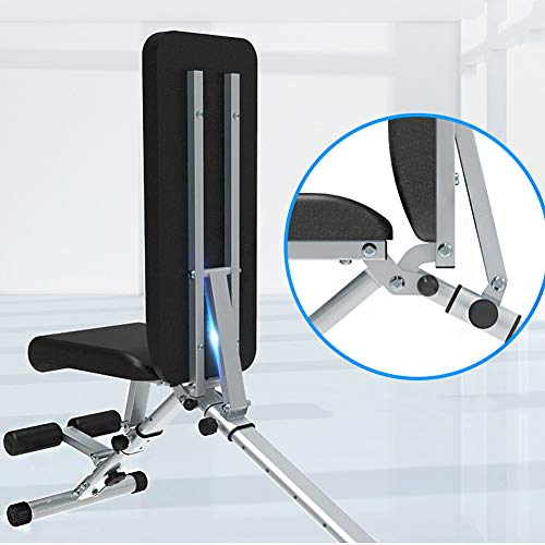RICHLN Adjustable Fitness Chair,Utility Weight Bench,Foldable Exercise Bench,Multifunctional Incline Decline Bench Press Chair for Home Gym Black
