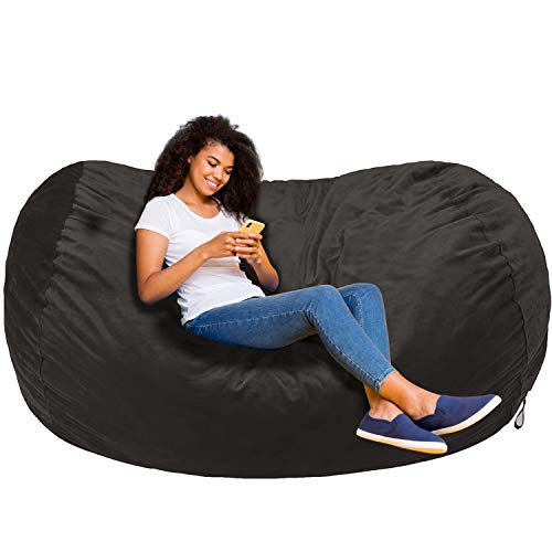 Amazon basics memory foam filled bean bag chair with microfiber cover...