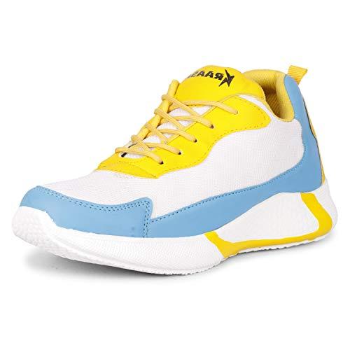 Kraasa Classy Sneakers for Men Yellow UK 8